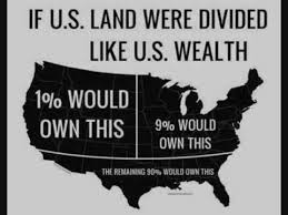 US map showing wealth inequality